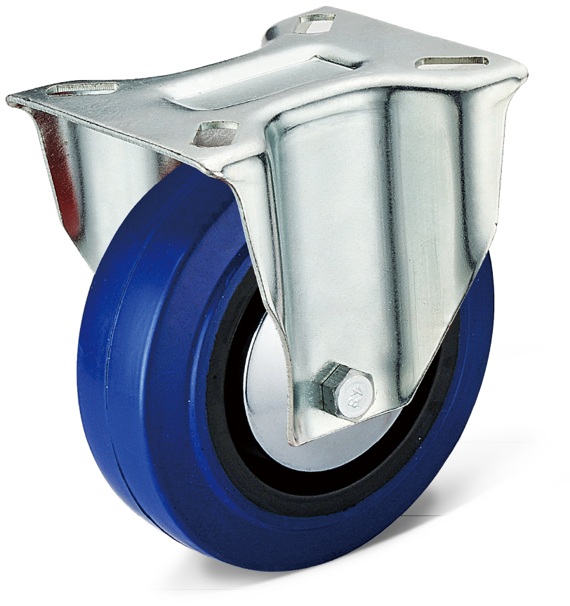 Elastic Rubber Fixed Casters