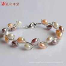 Bracelete de pérolas de água doce de moda (EB1509-1)