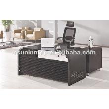 Vidro para design de mesa de escritório, fabricante de móveis de escritório de alto nível (KG8944)