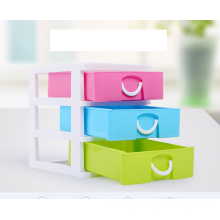 3-layer plastic mini cabinet desk organizer set with good quality