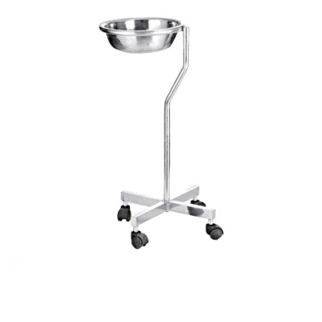 Hospital Perubatan Stainless Mayo Table Dengan Single Bowl
