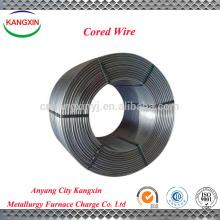 Cable con núcleo de silicona SiCa / calcio, alambre de soldadura con núcleo sólido para acería proveedor