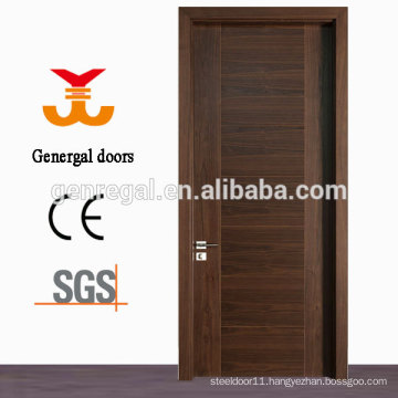CE standard Natural veneer laminated flush mdf wooden door