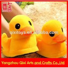 Zapatillas de pato de felpa de color amarillo lindo cálido invierno amarillo