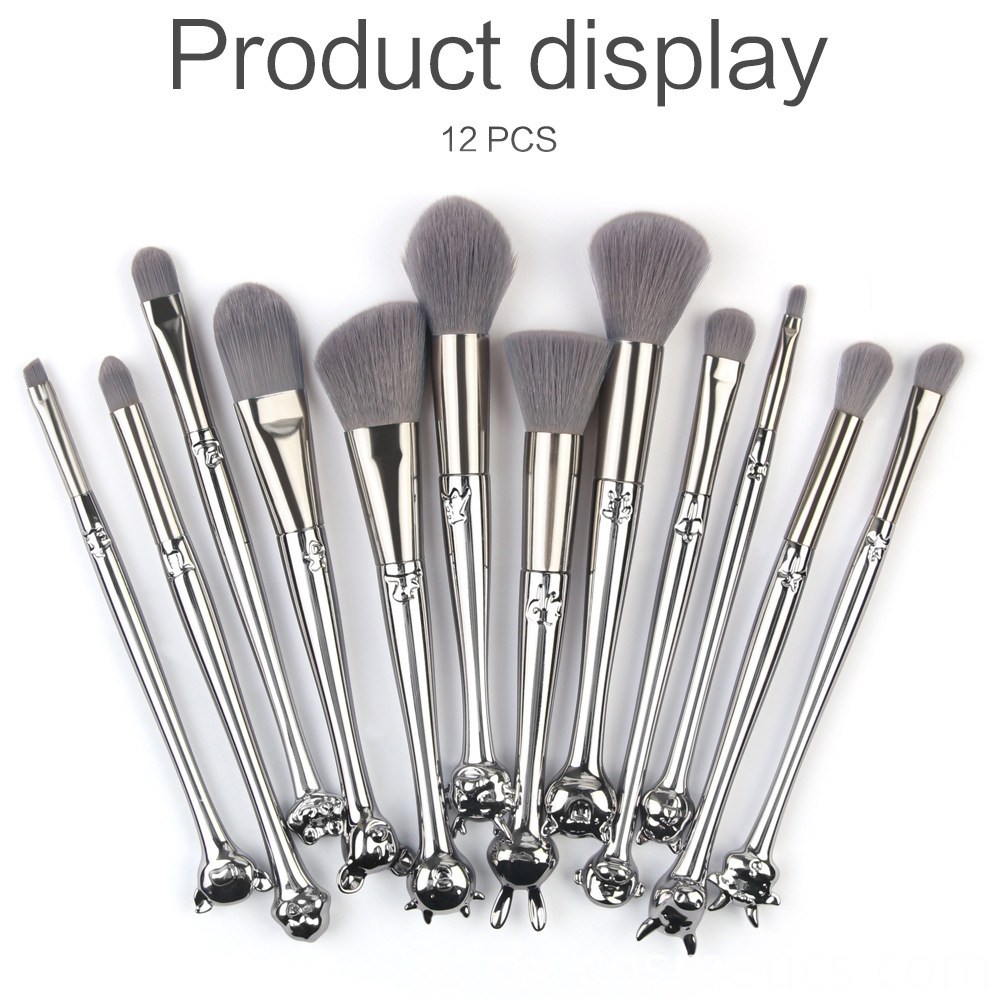 12 Zodiac Makeup Bursh set Metal Handle 7