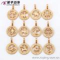 32454 Colgante de constelaciones chapado en oro de joyería de moda 18k