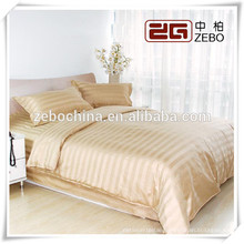 Yellow 3cm Strip Wholesale Dubai Bed Sheet Set Factory Price