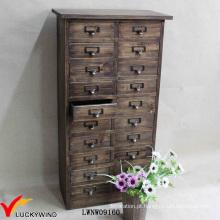 Armário de madeira retro do francês do país da multi gaveta