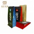 Изготовленный На Заказ Напечатанная Упаковка Еды Бумаги Kraft Плоского Дна Квадратного Блока Клапан Кофе Мешки Мешки