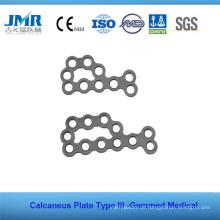 Metal Trauma Óssea Implante Ortopédico Tipo II Calcaneus Placa