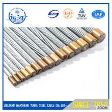 7 / 4.0мм оцинкованная стальная проволочная сетка для оптоволоконного кабеля / стального сердечника
