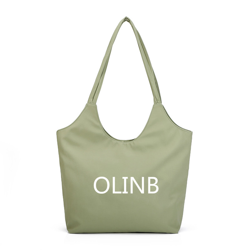 Custom Logo Design Polyester Plain Large Casual Tote Bag For Shopping 2