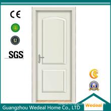 Твердая деревянная дверь панели белого цвета для дома