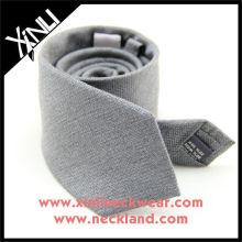 Corbata mezclada gris sólida de las lanas de seda Lazo gris, corbata de seda