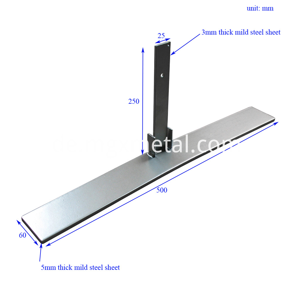 SSFT0004 Office Screen Panel Post T Base Size