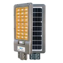 Cool white light rectangular integrated solar garden light