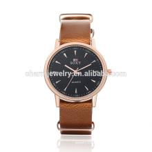 Última moda de alta calidad de cuarzo reloj de pulsera de cuero SOXY007