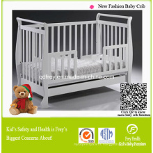 Hot Sale Pine Wooden Baby Crib/Bed/Cots