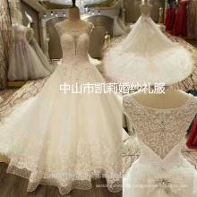 2017 Luxury ZhongShan heavy beading deep sweetheart neck ball gown wedding dress