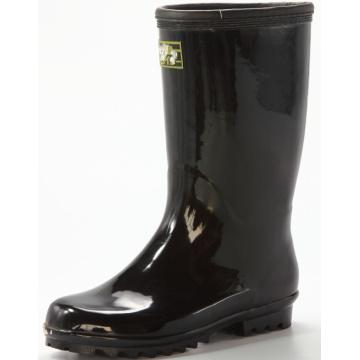 basic men's black waterproof rubber rain boots