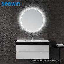 Seawin Bathroom Illuminated Circular Round Shapewall Mounted Led Light Mirror Backlit