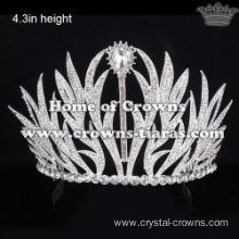 Spike Crystal Wedding Tiaras With Rhinestones
