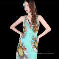 China heißer Verkaufsschalstrand wickelt Frauengroßverkaufart eine Blume pareo ein