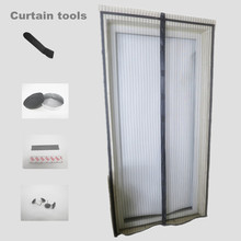 "Amazon Polyester mesh magnetic screen door curtain 36""x80"""