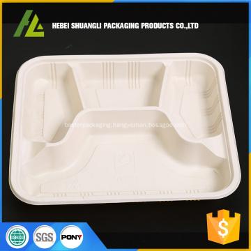 4 compartment disposable food plastic box