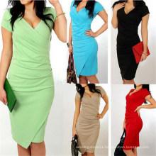 2015 Western Style Elegant Slim Fitting Fashion Lady Office Dress