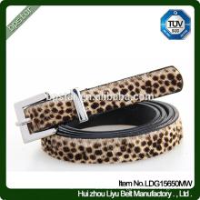 Pu Women Belts Leopard Thin for Female Dress Jeans Fashion Vintage Cinto Straps Casual Wholesale Factory