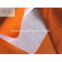 Short Hair Velvet Bonded Poly cotton Mesh Fabric for cushion