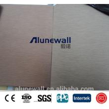 Alunewall High strength brush A2/B1 Fireproof Aluminum Silver ACP Composite Panel
