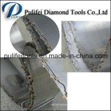 Utilisation de lame de scie de bande de diamant sur la découpeuse semi-automatique de marbre de tôle