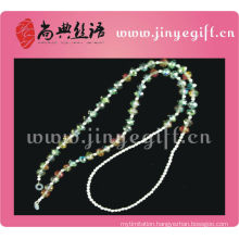 Guangzhou Wholesale Handmade Pewter Color Bling Crystal Beaded Glasses Chain