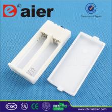 Daier 2 aa soporte de batería con tapa con luz indicadora blanca aa soporte de batería