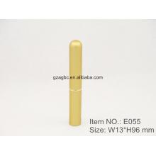 Delgado y elegante con forma de bolígrafo de aluminio lápiz labial tubo E055, 8,5 mm, color de encargo del tamaño de la taza