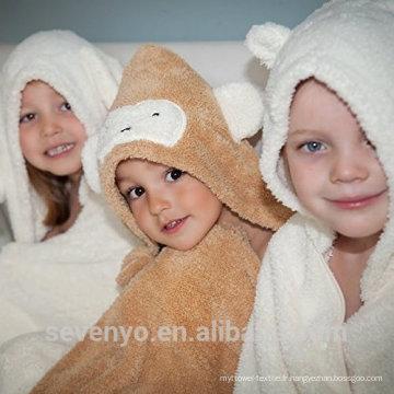 Serviette de bain en bambou bio à capuche Extra Soft et Durable PremiumTowels à séchage rapide Sevenyo design animal