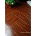 12.3mm E1 HDF Mirror Walnut Sound Absorbing Laminated Floor