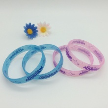 Attractive Customized Glitter Silicone Wristbands