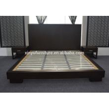 Cama de hotel de madera para muebles de dormitorio de hotel para hotel de 5 estrellas XYN2652