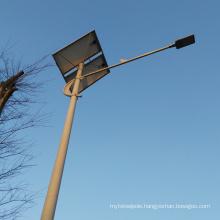 Hot dip galvanized 6m 9m 12m energy saving solar street light pole with wholesale price