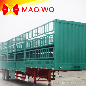 Popular 12m 40ton Fence Cargo Truck Trailer