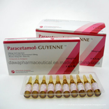 Парацетамол-Гиень 300мг/ 2мл Injectioneach мл содержит парацетамола инъекций 150мг