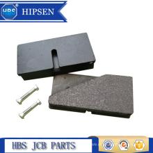 Almofadas de freio do carregador do Backhoe OEM de 43mm x de 85mm # 15 920160/45 202700 para a máquina escavadora de JCB