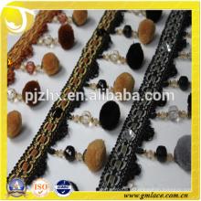 Accessoires de rideau en gros pompom fringe en stock