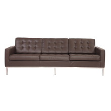 Replica leather knoll sofa 3 seater