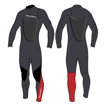 Seaskin 3mm Long Sleeves Chest Zip Steamer Wetsuits
