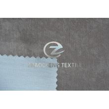 Imitação de camurça colada com tecido de tricô para roupas e cortina