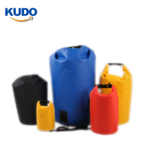 Wholesale 10L customized logo inflatable outdoor sport pvc material waterproof dry bag with shoulder